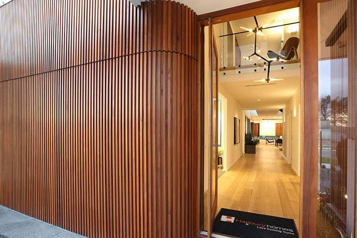 curved entry timber